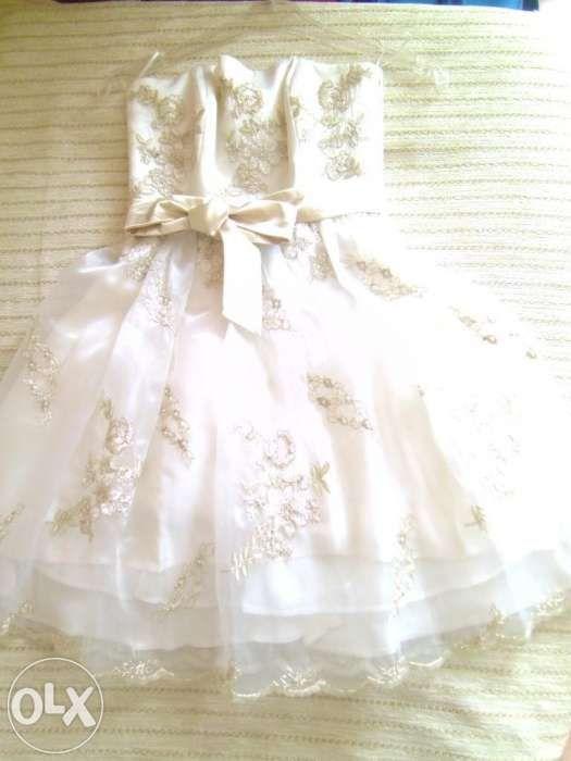Casa Ellis rochie unicat ivoire rochie scurta mireasa