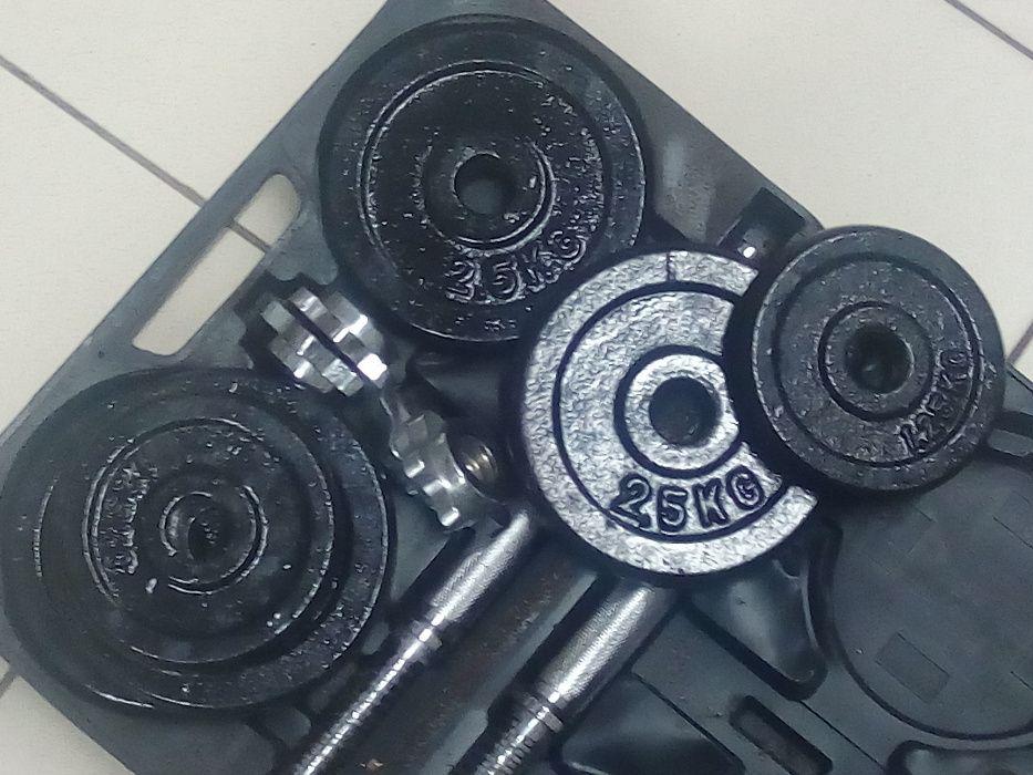 Conjunto pesos(halteres) em malas Talatona - imagem 5