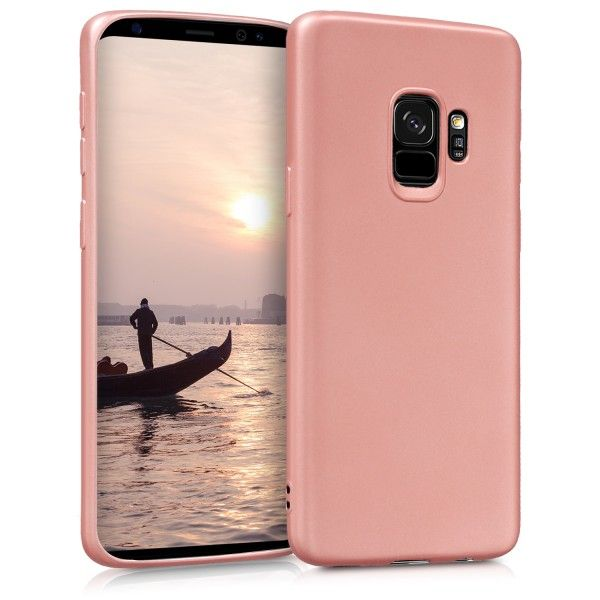 Husa Samsung Galaxy S9, Elegance Luxury slim antisoc Rose-Gold