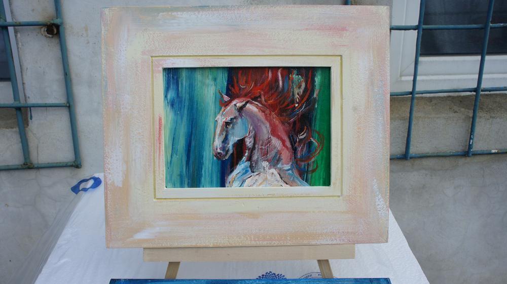 cadou ideal sau pentru colectionari - Pictura cu cai