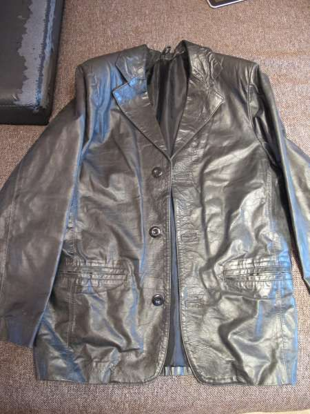 кожено сако яке