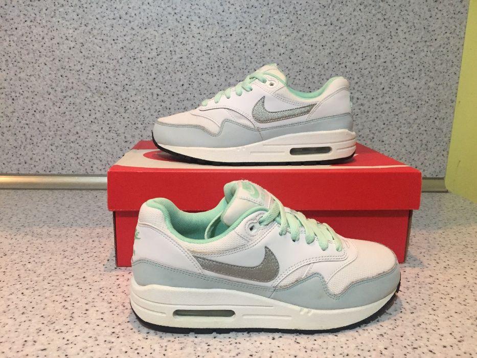 ОРИГИНАЛНИ *** Nike Air Max 1 White / Metallic Silver Mint