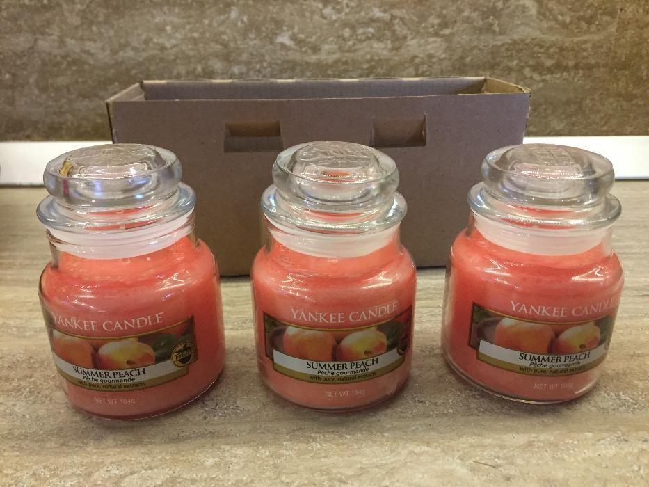Lumanari Parfumate Yankee Candle Summer Peach si Lemongrass and ginger