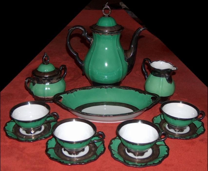 servicii cafea Bavaria + ceai Pforzheim, argintate