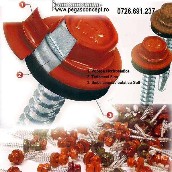 Suruburi Autoforante pentru Tigla Metalica - Tabla Lindab