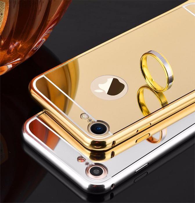 Огледален алуминиев бъмпер кейс за IPhone 7, 7 Plus, 8, 8 Plus