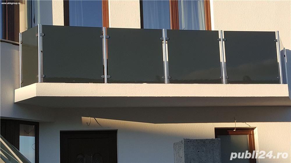 Balustrada din lemn si sticla Timisoara