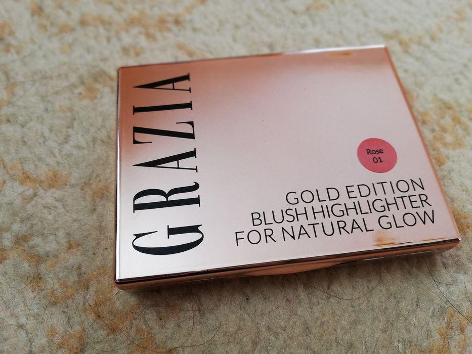 Златисто руж хайлайтър Grazia gold edition blush hightlighter JK021