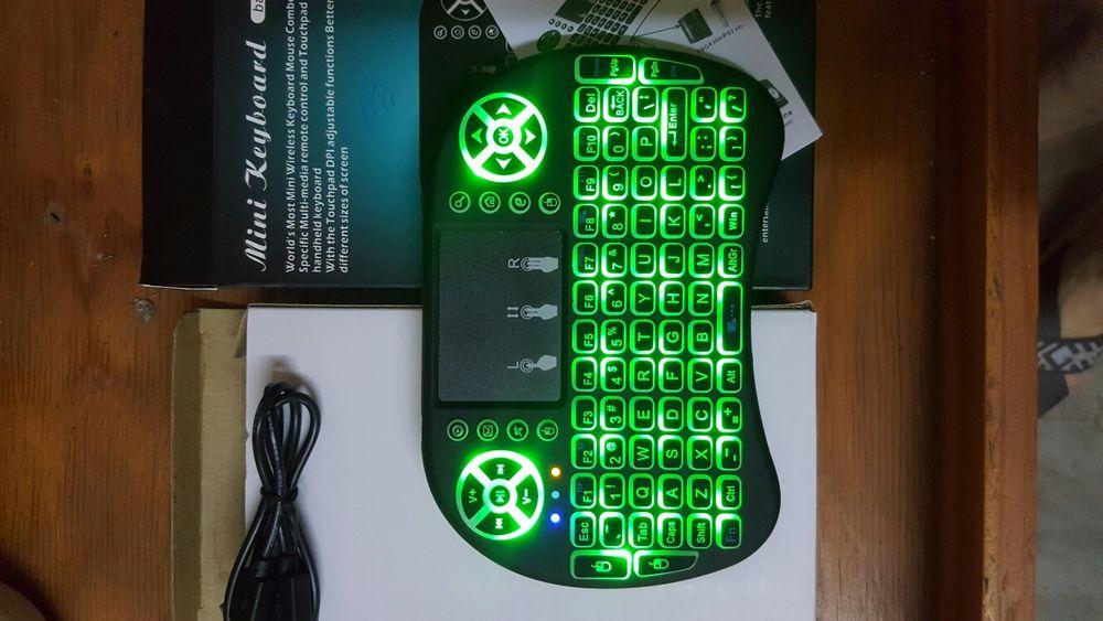 Abox i10 mini teclado sem fio, 2.4ghz multi-Media portátil de mão tecl