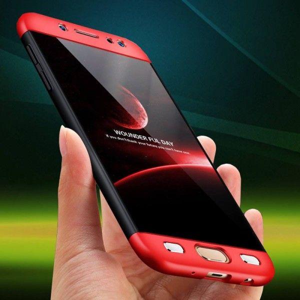 Husa Samsung Galaxy S7 Edge, Elegance Luxury, 360° 3in1 Negru-Rosu