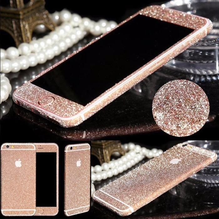 Folie Sticker iphone 6, 6s Gold si Pink