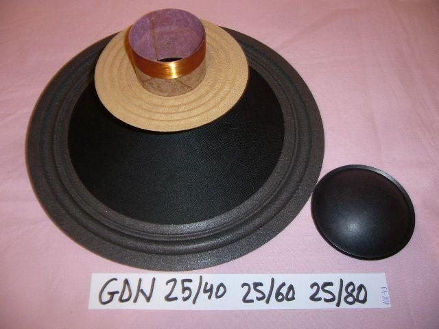 recon kit gdn 25/40 , 25/60 , 25/80 , reparare difuzor boxe unitra