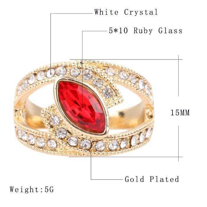 GPR85,inel placat aur 18k,masiv, zircon alb si rosu