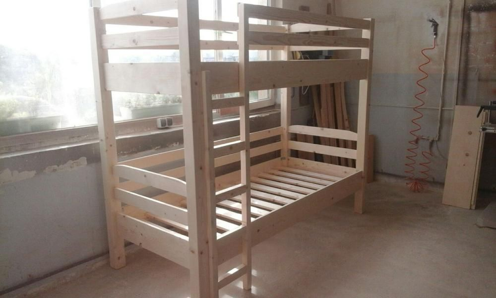 Pat etajat din lemn masiv cod BNG-01