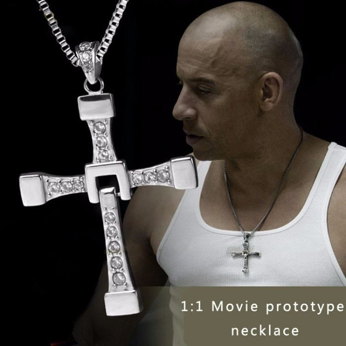 VIN DIESEL pandantiv cruce + lant Fast and Furious DOMINIC TORETTO