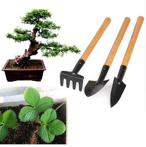 Малки градински инструменти лопата , търмък комплект 3 части мини