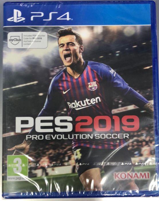 PES 2019 para ps4 selado