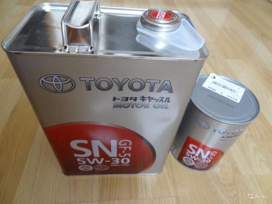 Моторное масло TOYOTA SAE 5W-30 SN-SF 4л