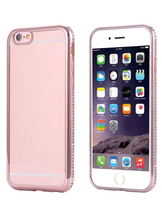 Husa Apple iPhone 7, Elegance Luxury placata cu diamante Rose-Gold