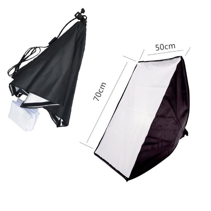 NEEWER Studio Softbox, Kit lampa cu 1 soclu E27 si softbox 50 x 70 cm