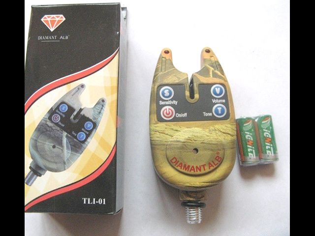 Senzor pescuit camunflaj avertizor digital,baterii de 1,5 V
