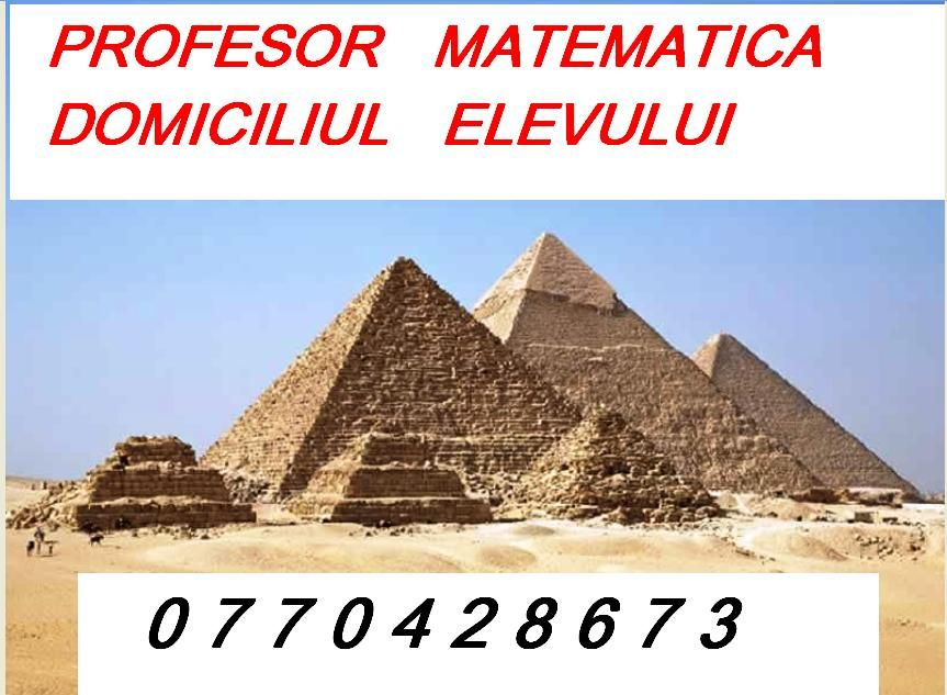 Matematica,orice zona.Profesor.