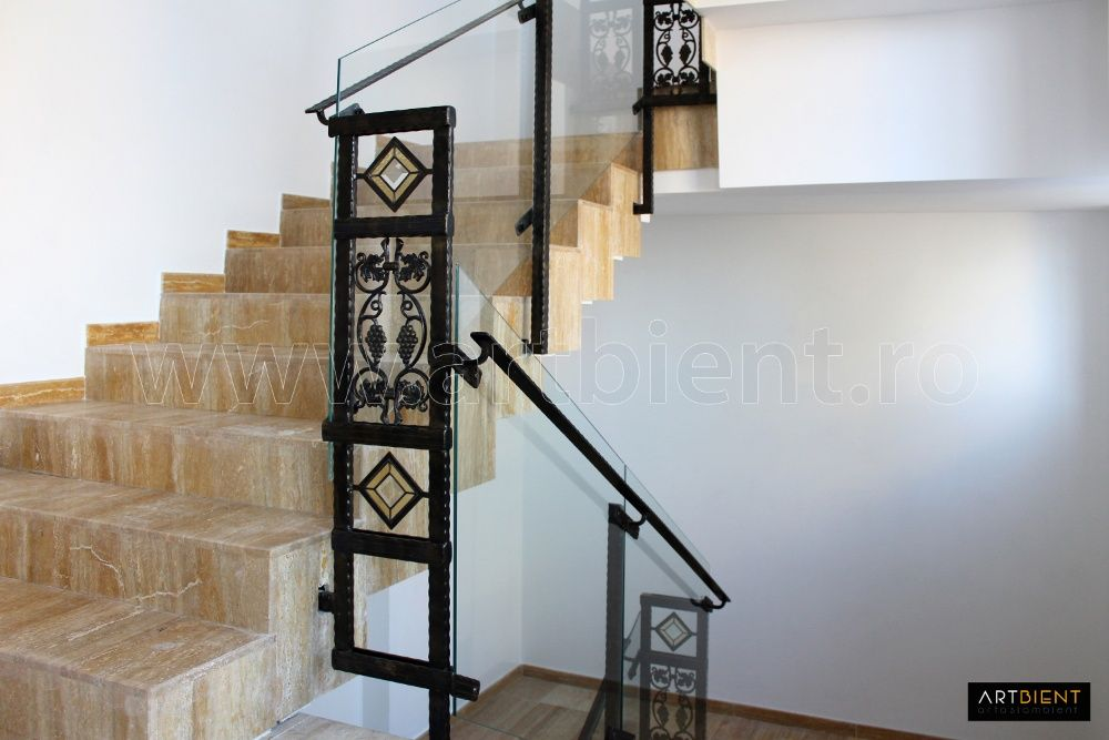 balustrade personalizate realizate din fier forjat, sticla sau metal