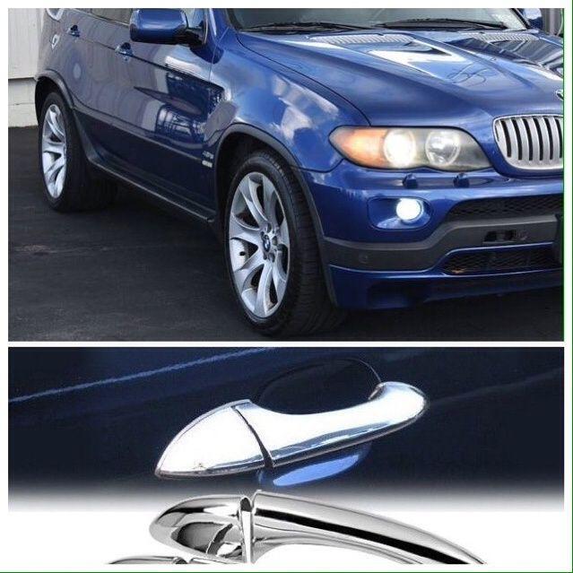 БМВ Х5 Е53 хром дръжки за врати BMW X5 никел аксесоари бъбреци 3.0 4.8
