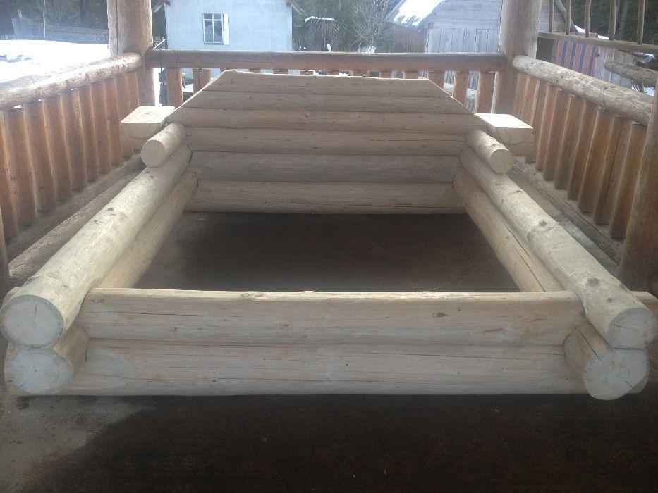 pat masiv din lemn de brad sau molid
