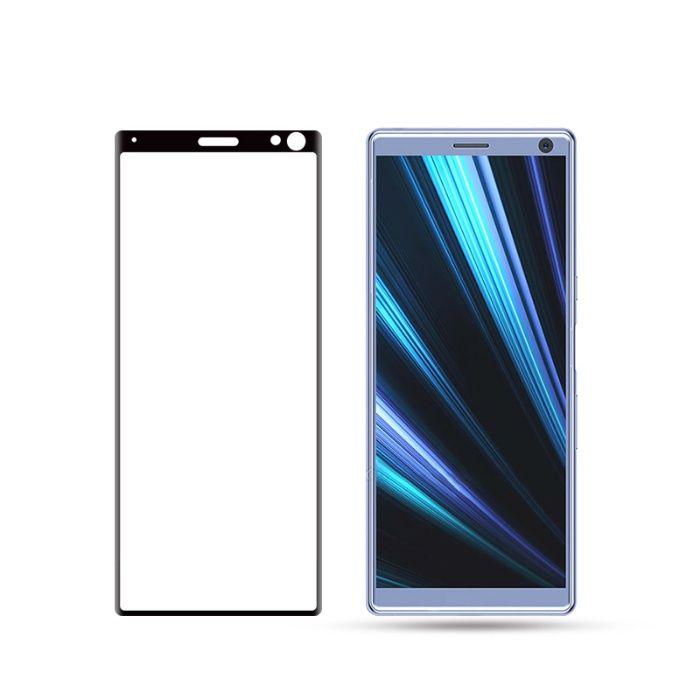 Закален извит удароустойчив 6D стъклен протектор за Sony Xperia 10 гр. Шумен - image 2