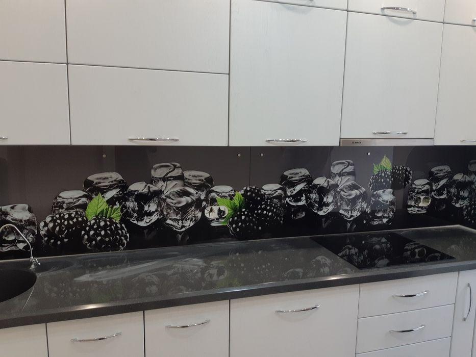 Кухонные стеклянные фартуки УФ печать