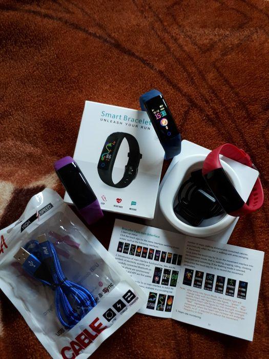 Brățara SMART, funcții multiple 3 culori, cablu usb