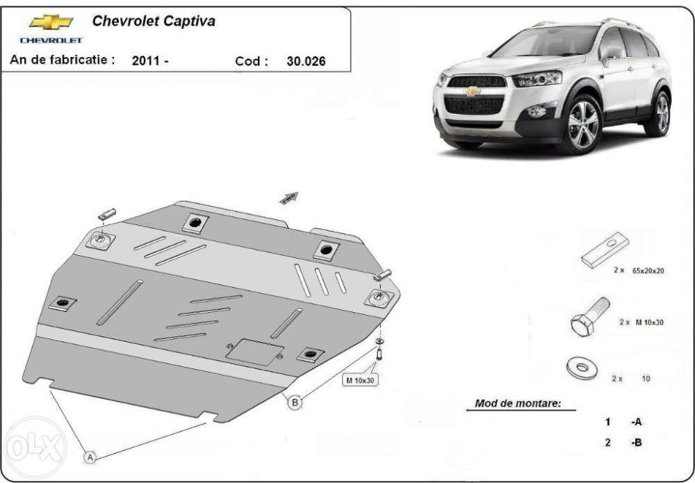 Scut metalic pentru motor Chevrolet Captiva 2006-2010 - otel 2mm