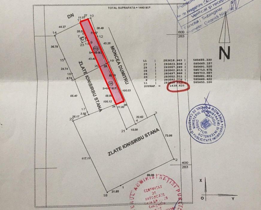 Vanzare  terenuri constructii Giurgiu, Baneasa  - 49500 EURO