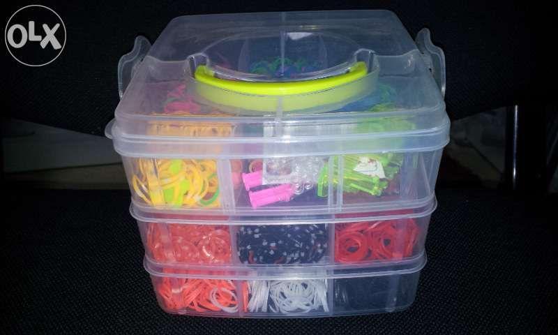 Kit complet loom bands- bratari pentru elastice, 4200 buc