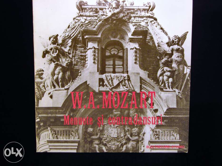 Disc Vinil pik-up MOZART Menuete & Contradansuri - Electrecord 1986