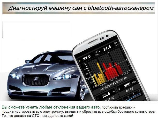 Автосканер OBD2 ELM 327 сканер блютуз Bluetooth мини