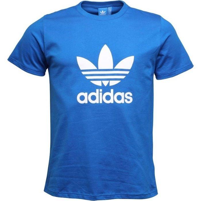 Tricou original Adidas Originals barbati marimea M nou albastru bumbac