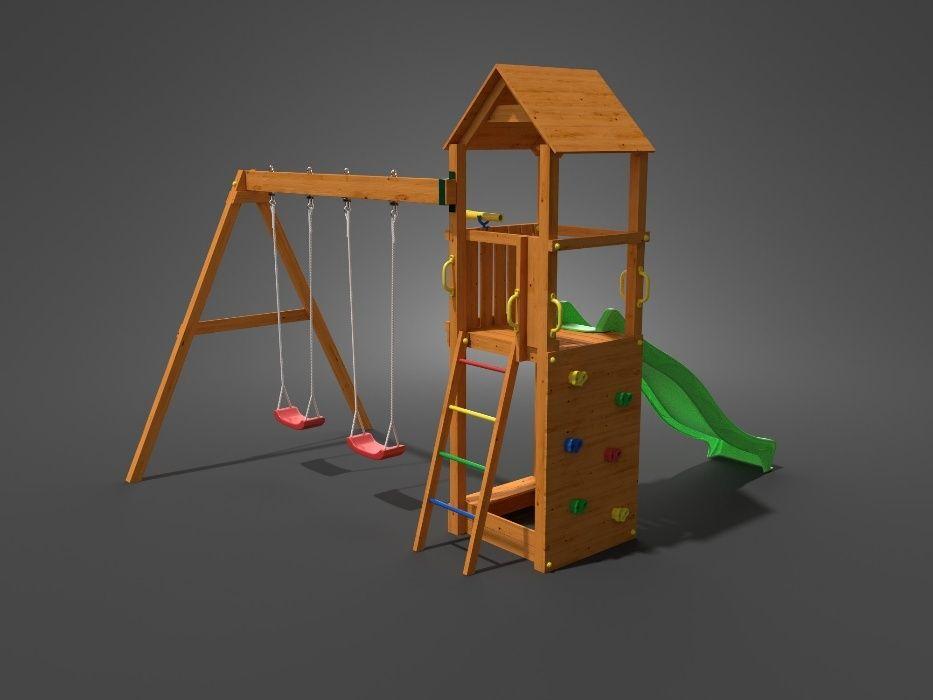 Fungoo FLAPPI дървена детска площадка с пързалка и 2 люлки гр. София - image 4