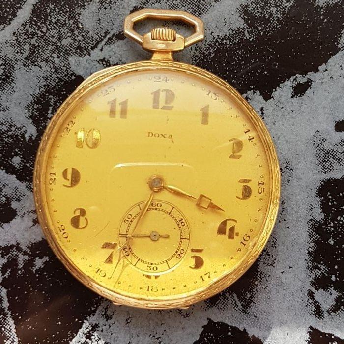 Ceas buzunar doxa aur 14k autentic antik