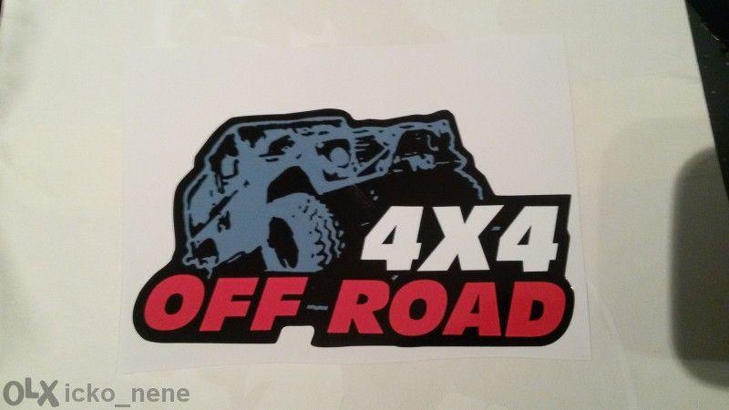 стикер джип 4x4 offroad jeep