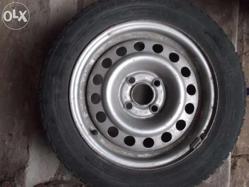 """Зимни гуми Гиславед 175/65/14, 4х100 с метални джанти 14 """" за VW,Seat"""