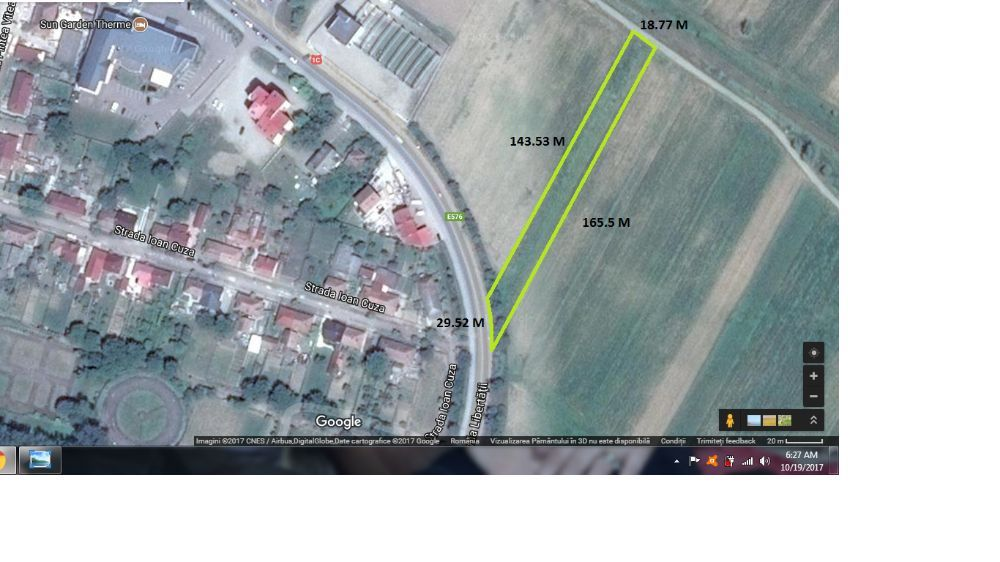 Vand teren in Dej langa Petrom pe soseaua E576