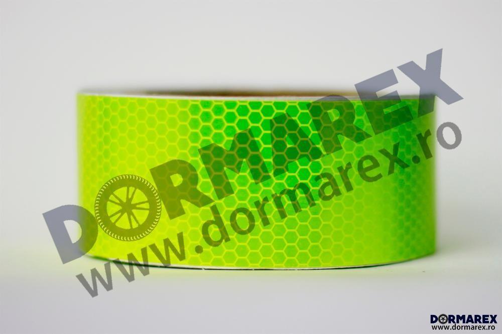 Banda reflectorizanta remorca TIR camioane tip fagure, verde