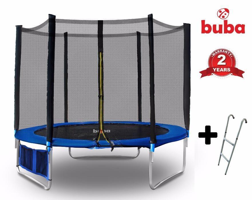 Buba Детски батут 6FT (183 см) с мрежа и стълба и безплатна доставка