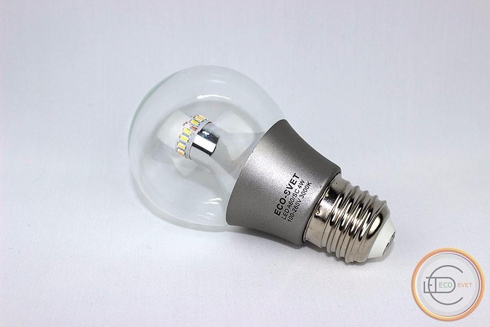 LED Светодиодная лампа A60 4W E27 Eco-Svet (Лед)