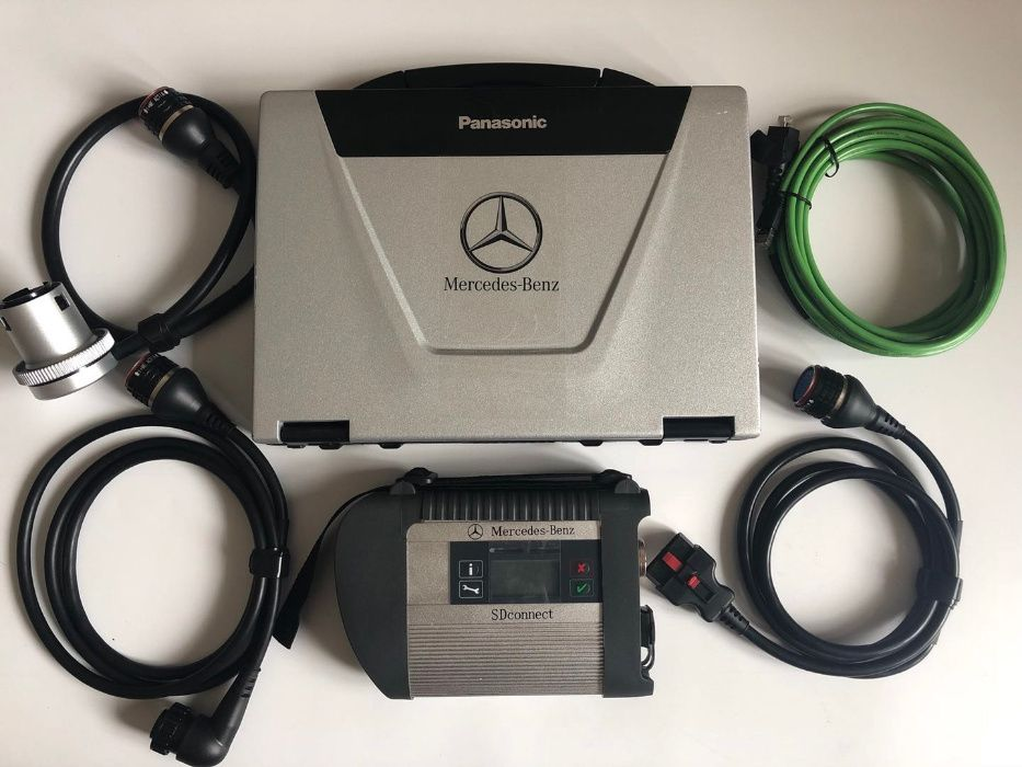 Tester auto Mercedes C4 SD Connect Pro 12/24 V + Laptop Militar V.2018