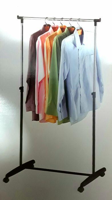 STENDERE ( STAND ) din metal cromat pentru haine pe umerase - NOI