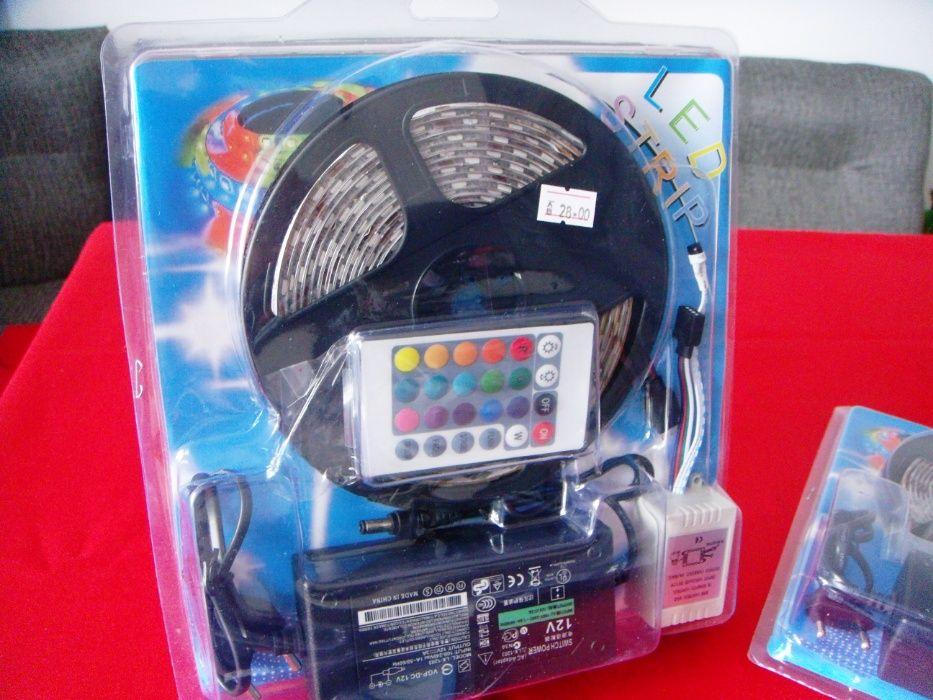 ПРОМО от28лв-Лед осветление RGB 5050, Комплект: LED лента + траф+ дист