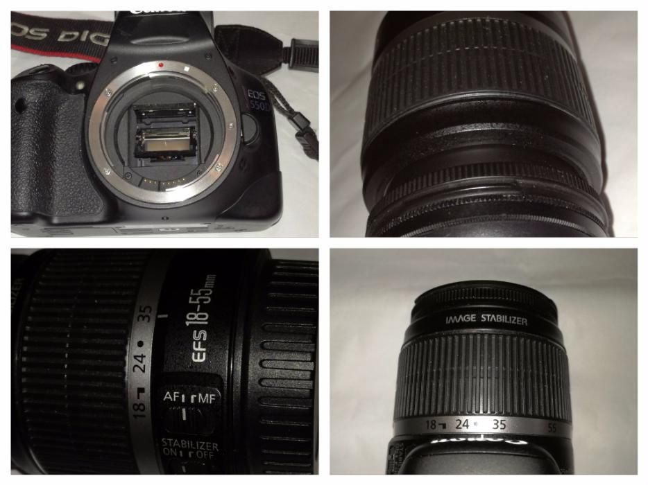 DSLR Canon 550 D , Rebel T2i , cu geanta si multe accesorii